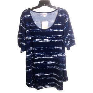 LuLaRoe Morgan Tie Dye Top NWT 3XL